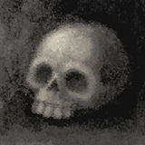 grunge例证头骨向量 免版税库存图片