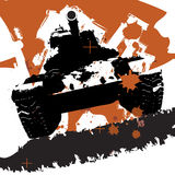 grunge军人坦克 免版税图库摄影