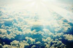 Grunge减速火箭的天空图象 库存图片