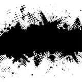 grunge半音墨水splat 库存照片