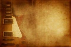 grunge吉他纸张 库存照片