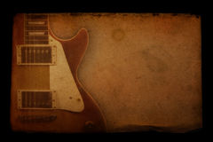 grunge吉他纸张 图库摄影