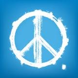grunge和平标志 免版税库存图片