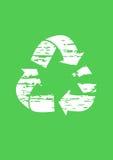 grunge回收符号 免版税库存照片