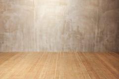 Grunge墙壁,木楼层背景 免版税库存图片