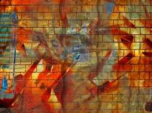 grunge墙壁 免版税库存照片