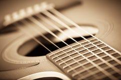 Grunge声学吉他 免版税库存照片