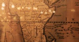 Grunge弄脏了世界的映射 世界的葡萄酒映射 与地球地图的老纸背景 影视素材