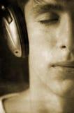 grunge我爱音乐 免版税图库摄影