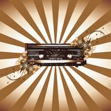 grunge收音机 库存图片