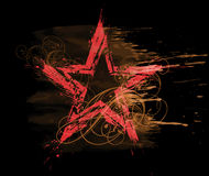 grunge星形水彩 向量例证
