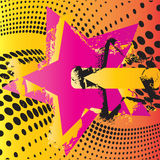 grunge星形 免版税图库摄影