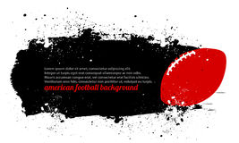 Grunge橄榄球海报 库存照片