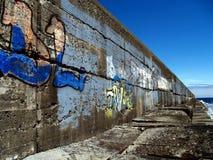 grunge港口墙壁 库存照片