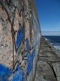 grunge港口墙壁 免版税库存图片