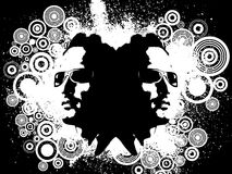 grunge男 免版税图库摄影