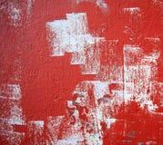 grunge红色墙壁 免版税库存照片