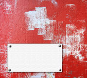 grunge红色墙壁 免版税库存图片
