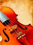 grunge纸零件小提琴 库存图片