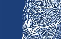 Grunge纹理 困厄靛蓝概略的踪影 额外 库存例证