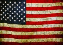 Grunge美国国旗 库存照片