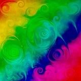 grunge荧光的spiralized瓦片 库存照片