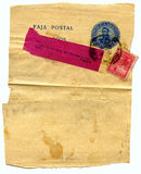 grunge被弄脏的信函老 图库摄影