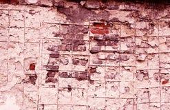 grunge褐红的墙壁 库存图片