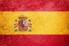 Grunge西班牙标志 与难看的东西纹理的西班牙旗子 免版税图库摄影