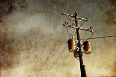 Grunge输电线 库存照片