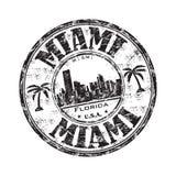 grunge迈阿密不加考虑表赞同的人 免版税库存照片
