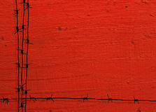 Grunge铁丝网框架 库存图片