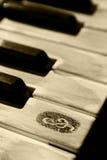 grunge锁上钢琴 免版税库存图片