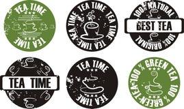 grunge集合印花税茶向量 库存照片