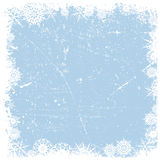 Grunge雪花圣诞节背景 免版税库存图片