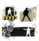 grunge音乐海报 库存照片