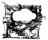Grunge音乐背景 免版税图库摄影