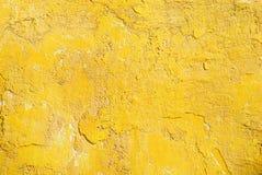 Grunge黄色墙壁 库存照片