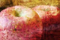 Grunge Äpfel Lizenzfreies Stockfoto