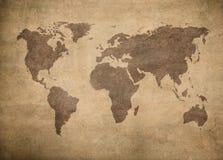 Grunge översikt av världen Royaltyfri Fotografi