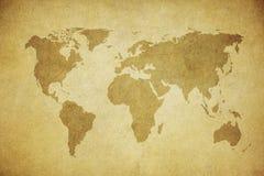 Grunge översikt av världen Royaltyfri Bild