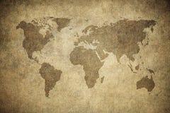 Grunge översikt av världen vektor illustrationer