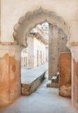 Grunge łuk antyczny pałac budował w islamskim stylu Zdjęcia Royalty Free