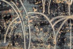 Grunge ściana z Czarną farby łupą fotografia royalty free
