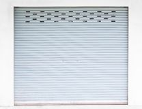 Grunge żaluzi popielaty stalowy rolkowy drzwi zdjęcia royalty free