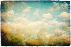 grunge αναδρομικός ουρανός ε&io απεικόνιση αποθεμάτων
