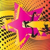 grunge αστέρι Στοκ φωτογραφία με δικαίωμα ελεύθερης χρήσης