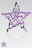grunge αστέρι Στοκ Εικόνες