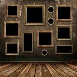 grunge βιομηχανικό εσωτερικό π& Στοκ Εικόνα