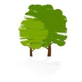grunge δέντρο εικονιδίων Στοκ Φωτογραφίες